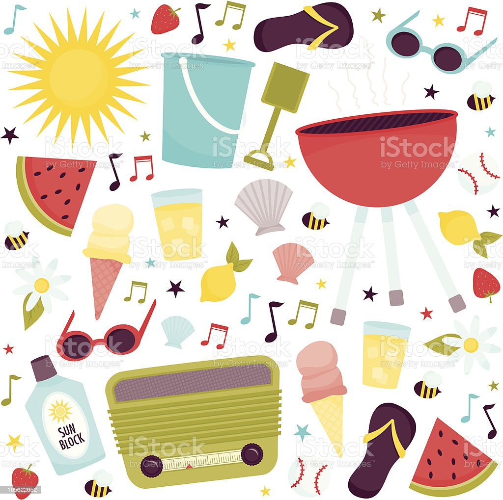 Images that represent summertime royalty-free stock vector art