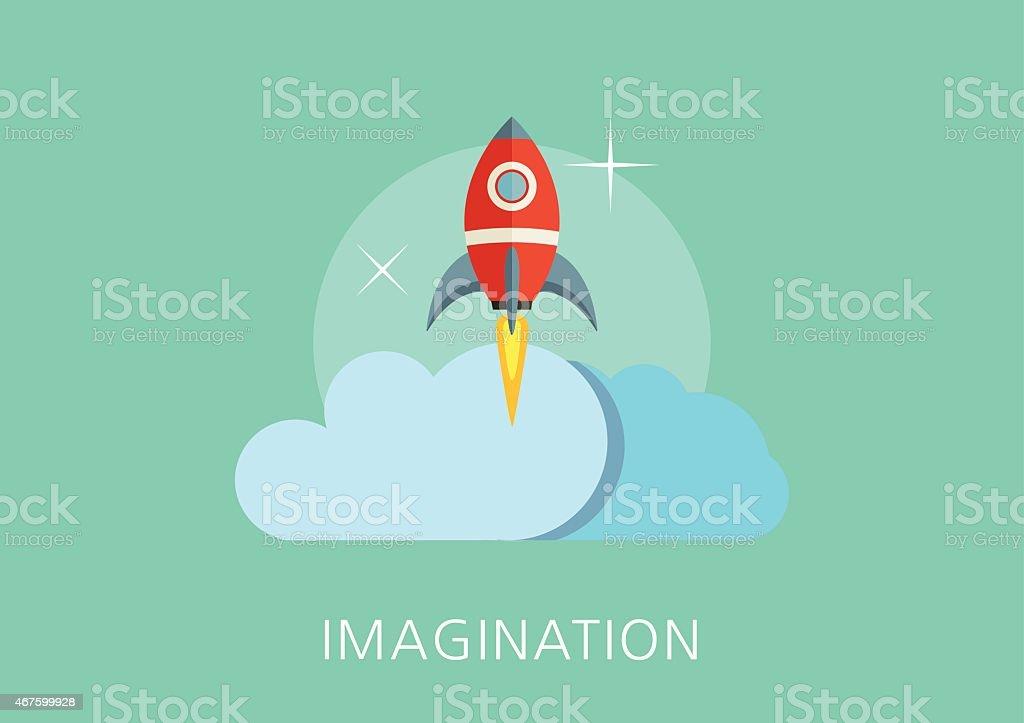 imagination concept flat icon vector art illustration