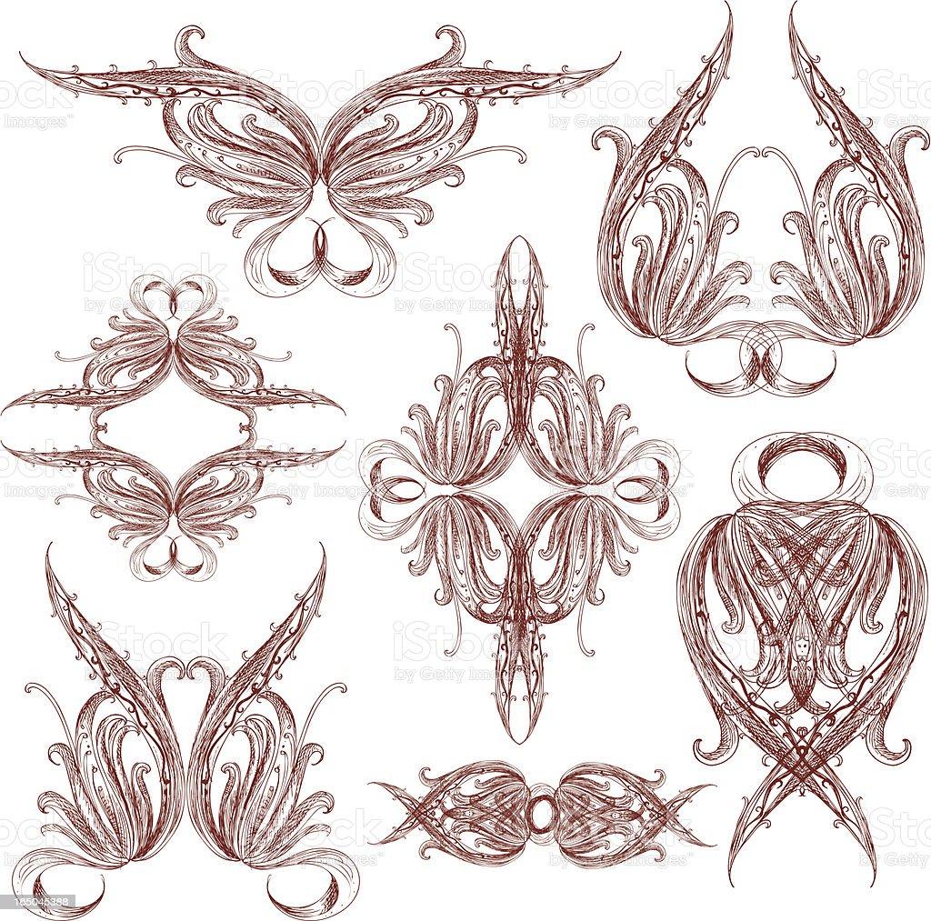 imaginative ornaments royalty-free stock vector art