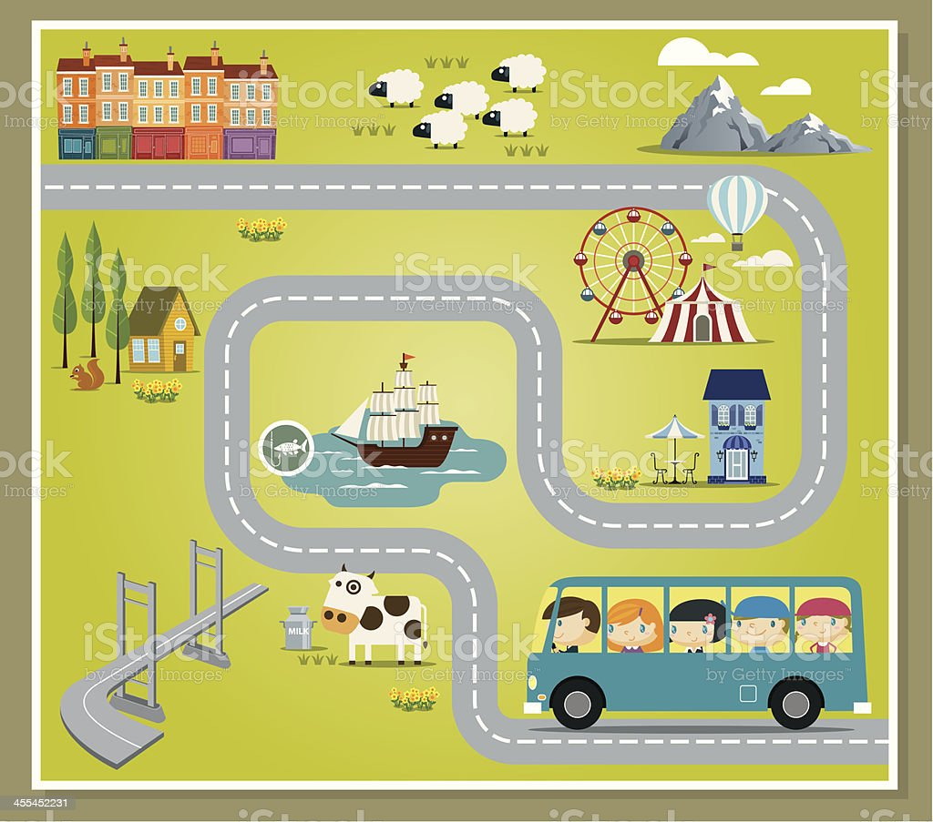 Imaginative Playground vector art illustration