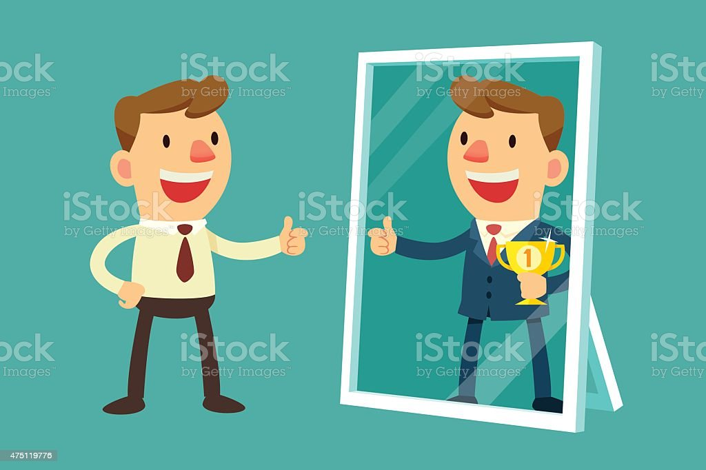 imagine yourself successful vector art illustration