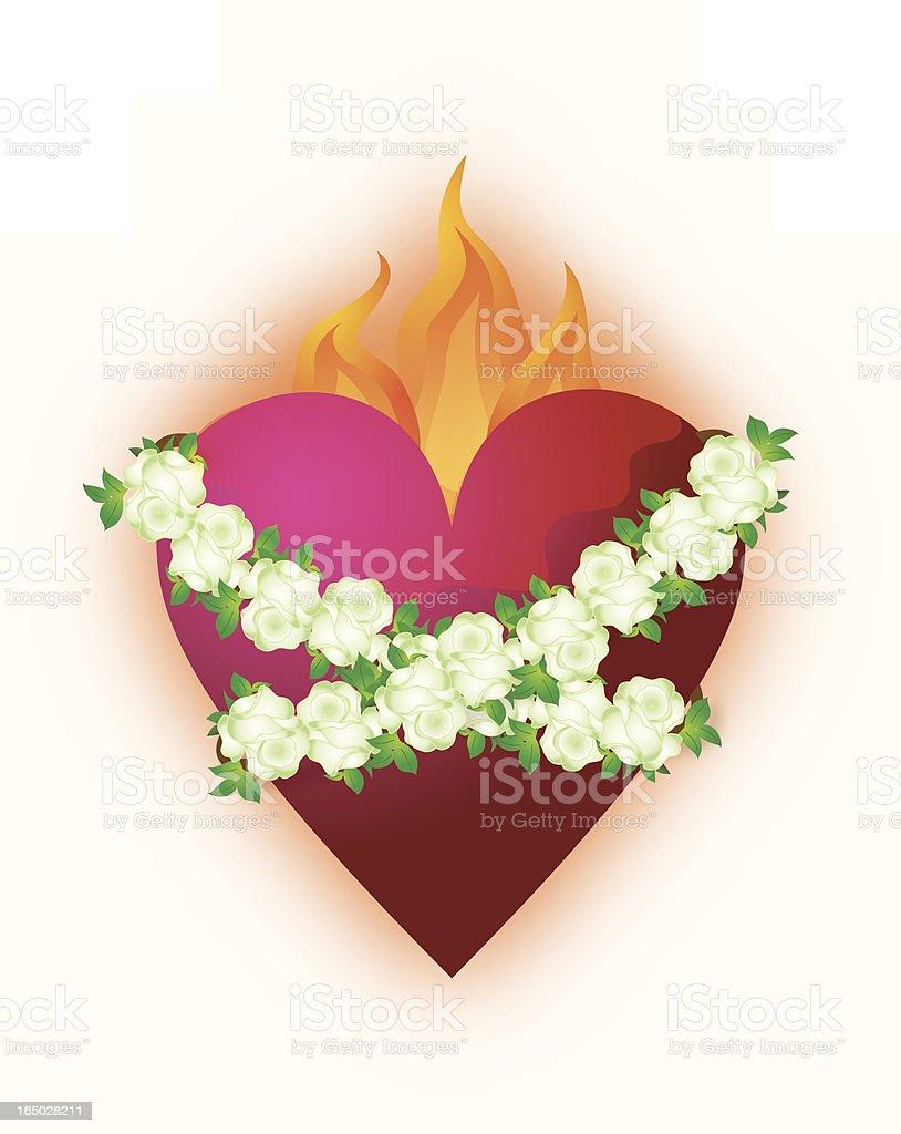 Immaculate Heart vector art illustration