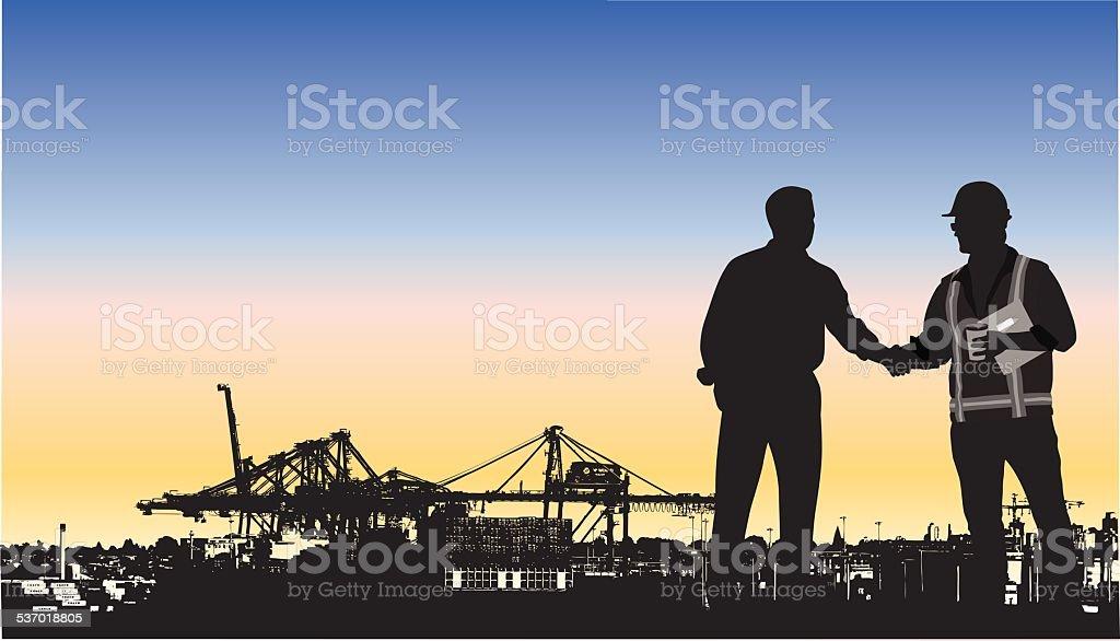 Imports vector art illustration