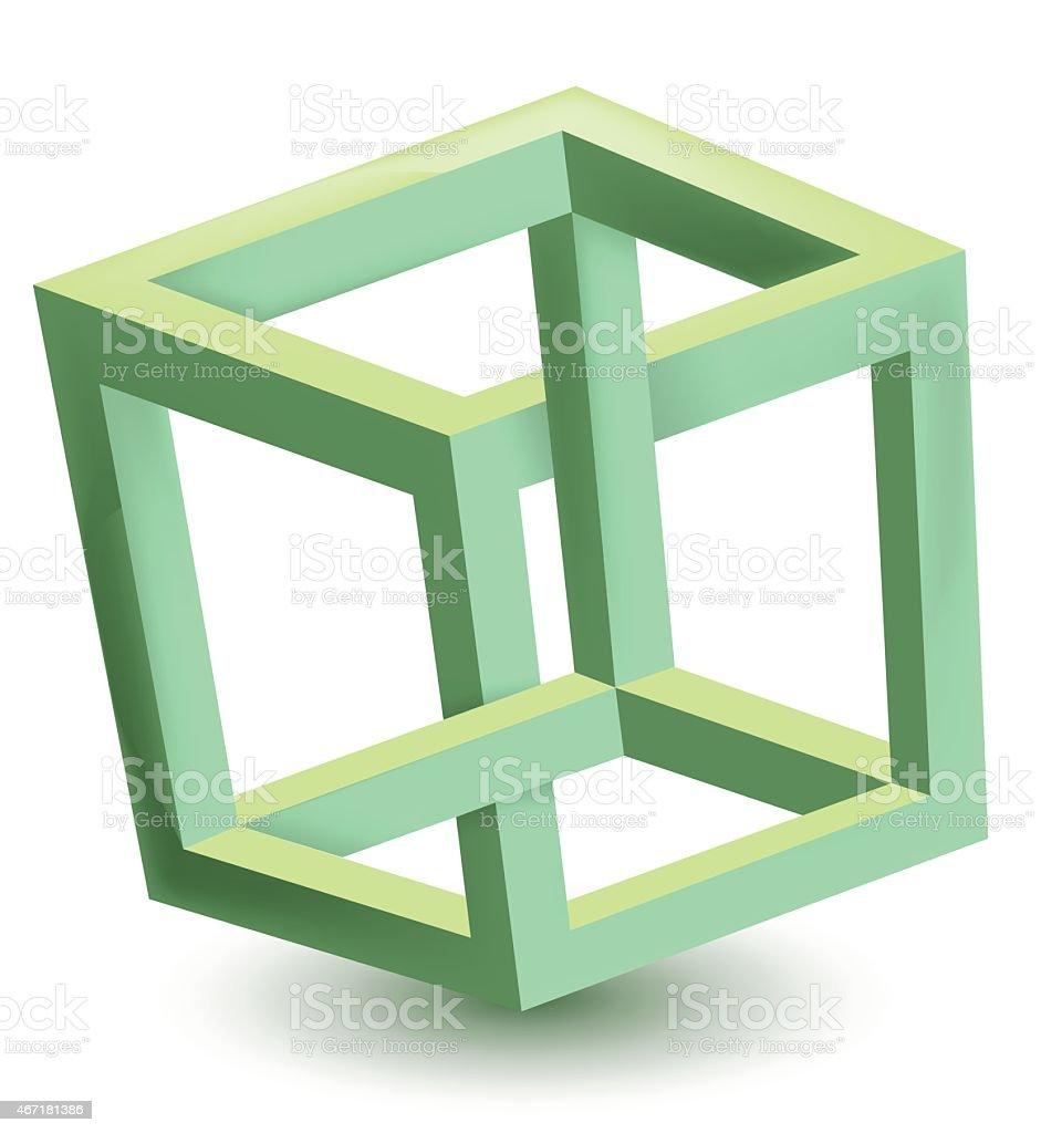 Impossible de cube stock vecteur libres de droits libre de droits