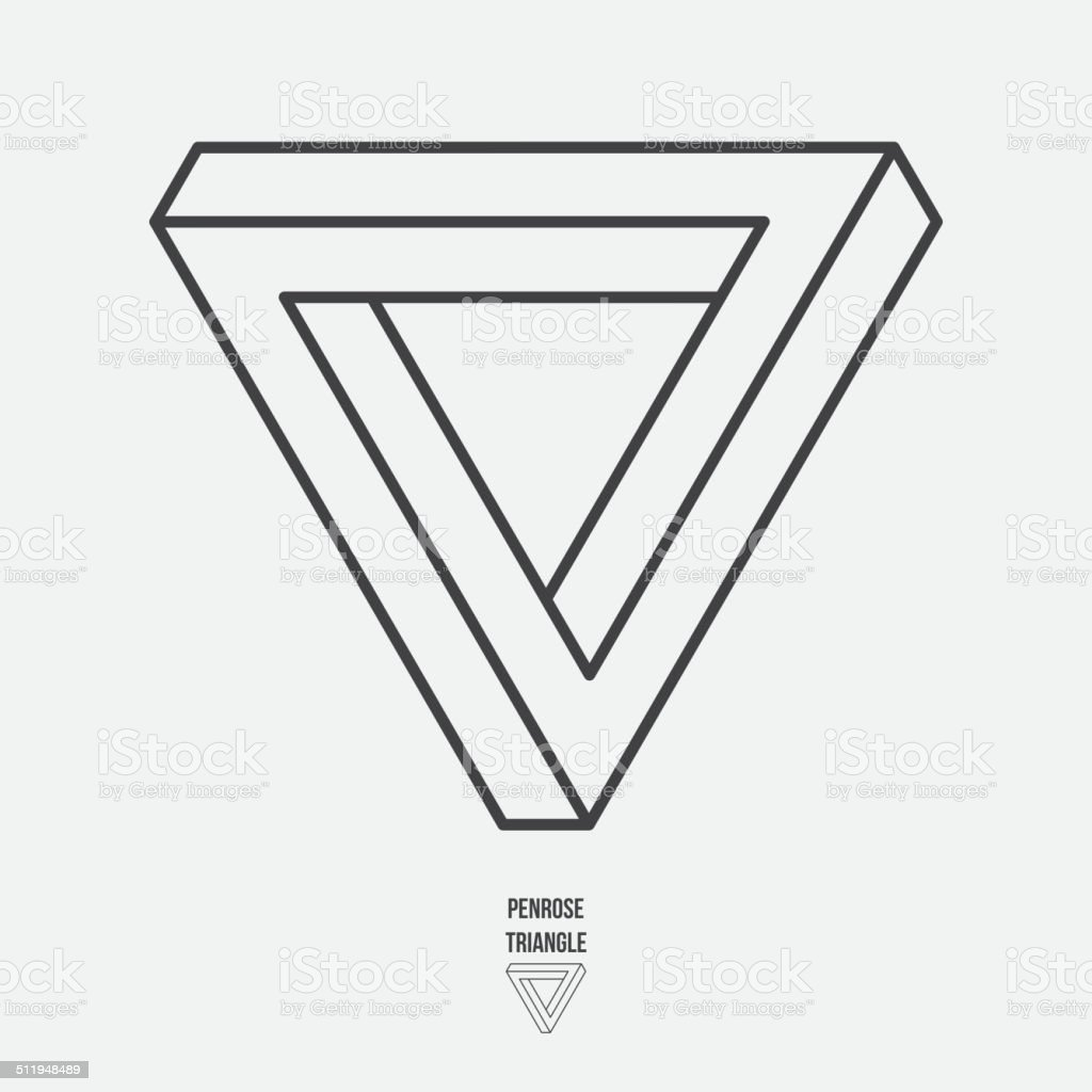 Impossible triangle vector art illustration
