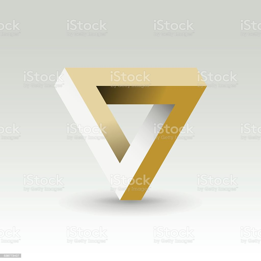 Imposible triangle vector art illustration