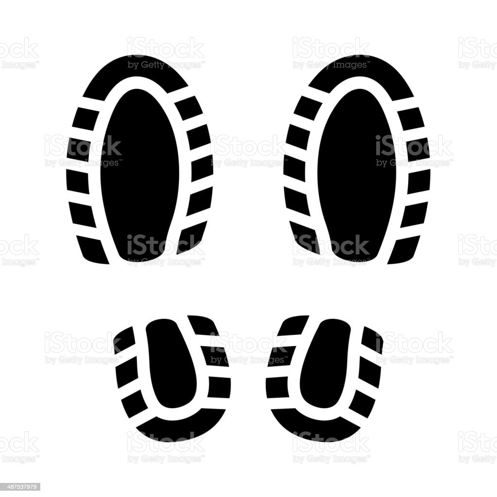 Imprint Shoes royalty-free stock vector art
