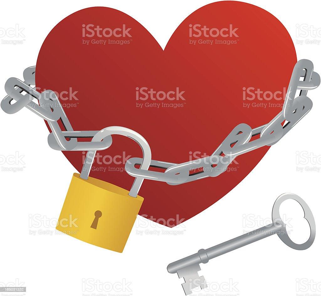 Imprisoned Heart - incl. jpeg vector art illustration