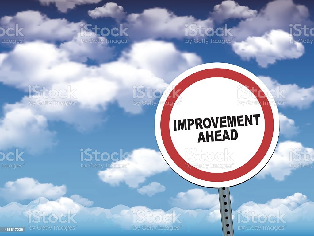 Improvement ahead vector art illustration