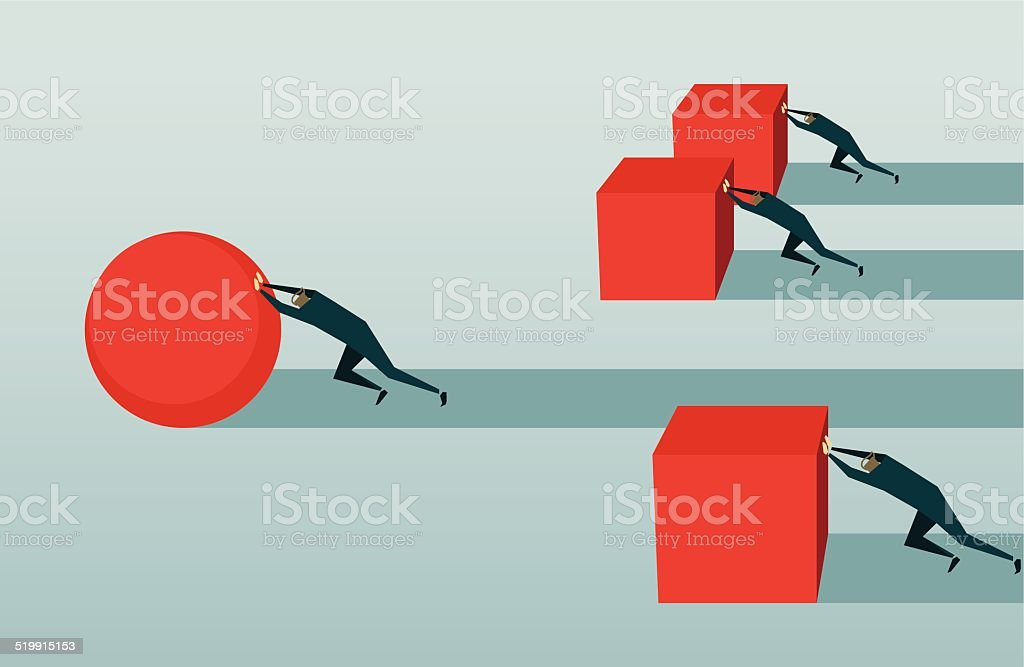 Improvement, Competition, Pursuit, Challenge, Conquering Adversity, Strategy,  Efficiency, Solution vector art illustration