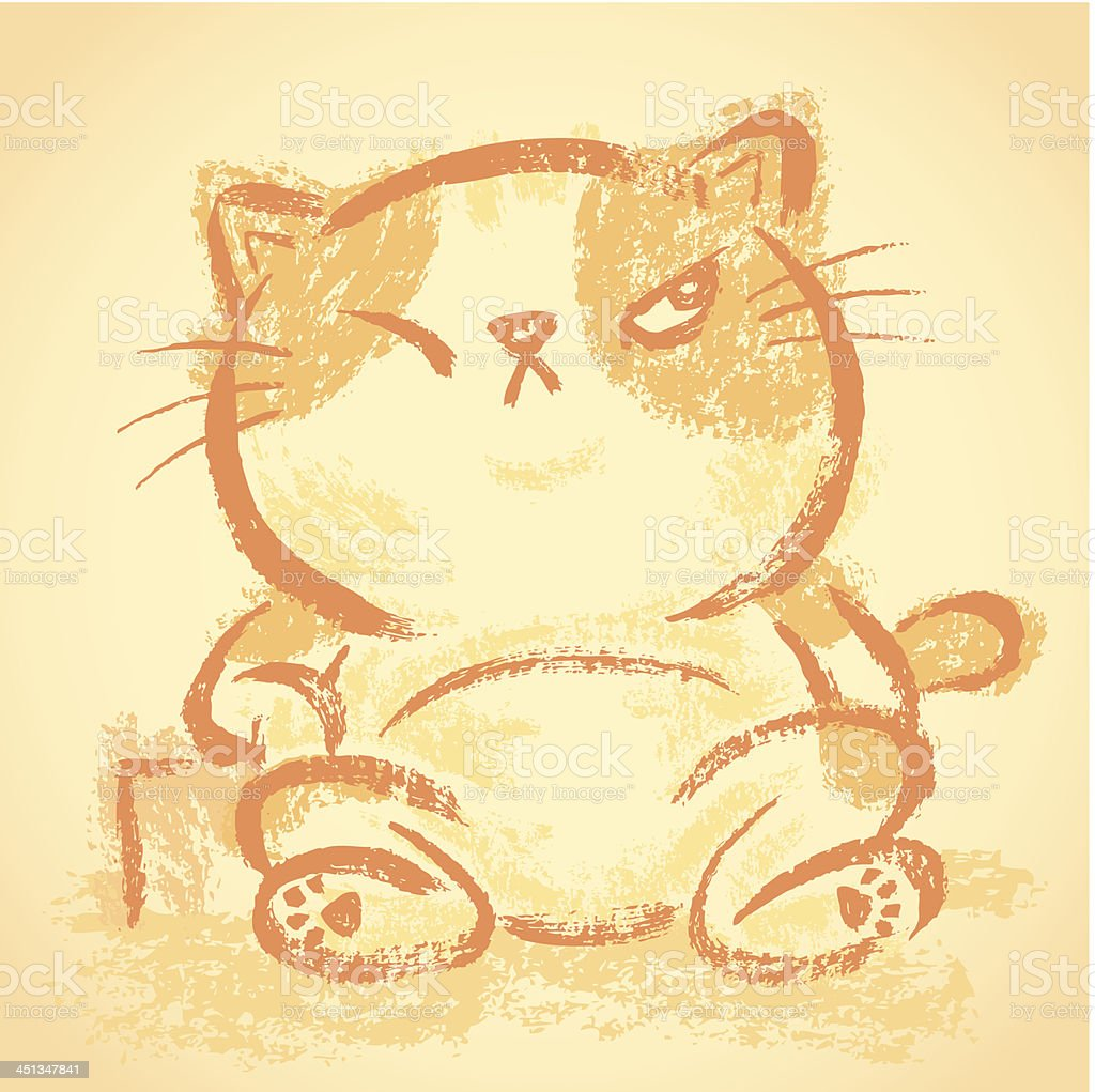 Impudent cat Relaxation royalty-free stock vector art