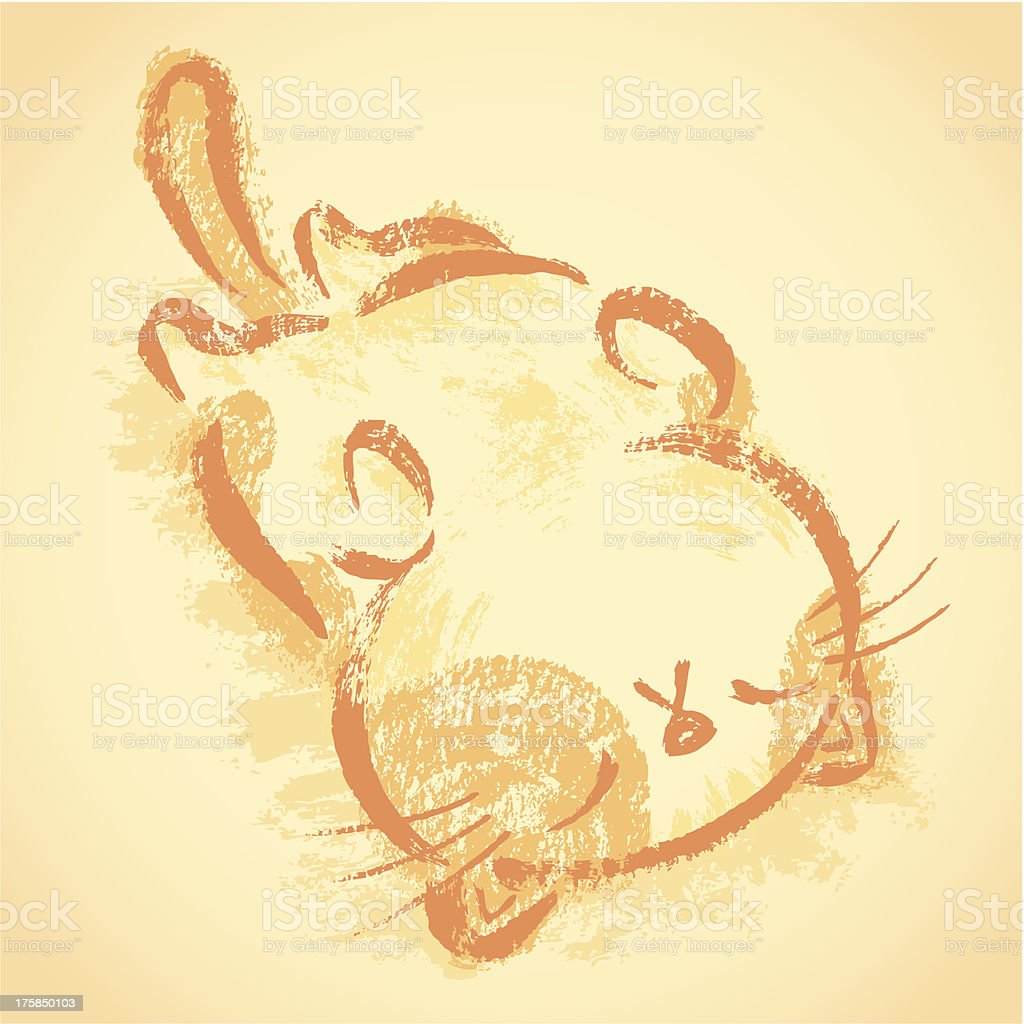 Impudent cat sleep on one's back royalty-free stock vector art