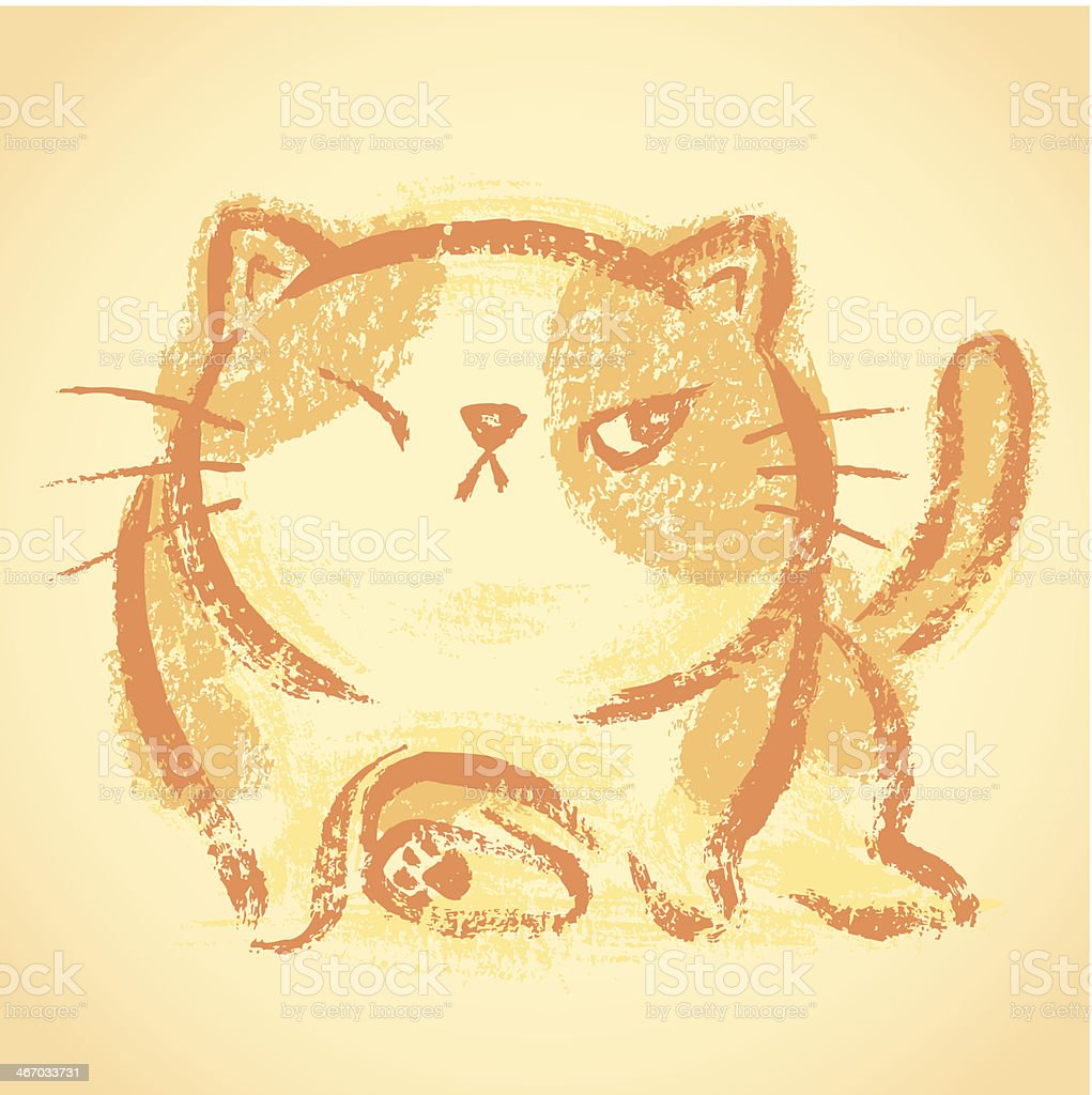 Impudent cat royalty-free stock vector art