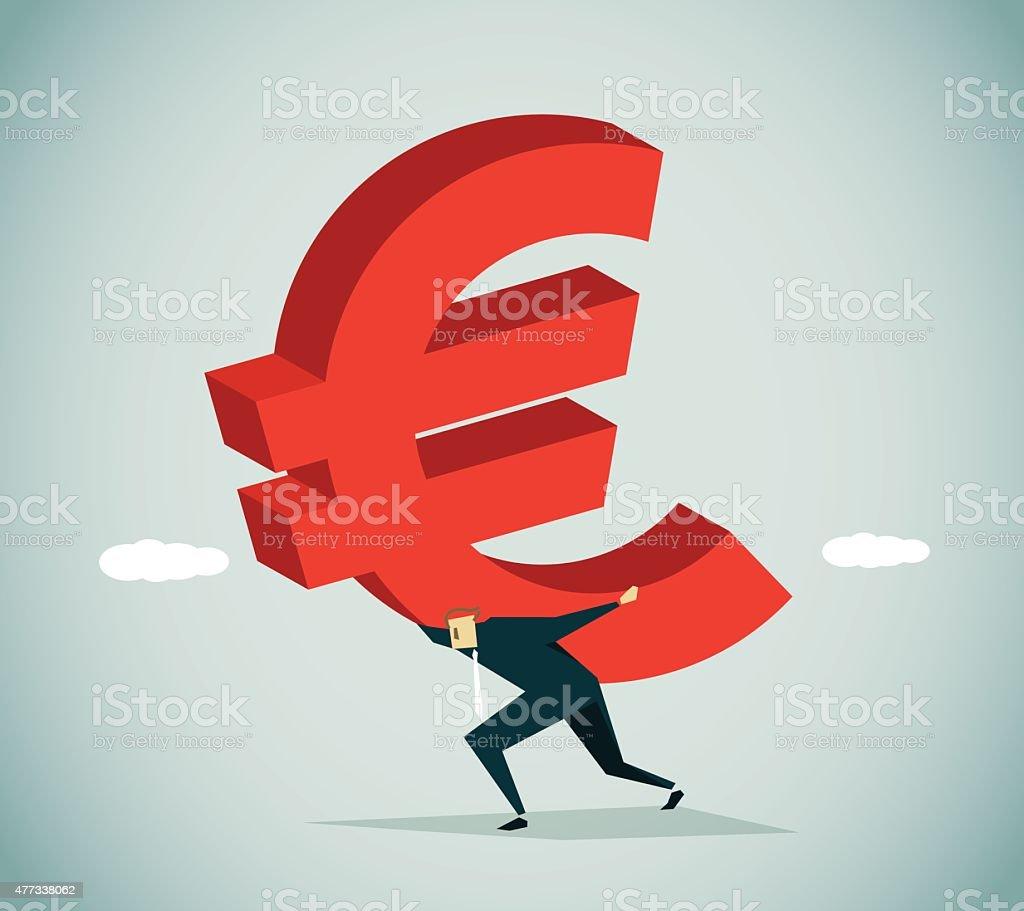 In Debt vector art illustration