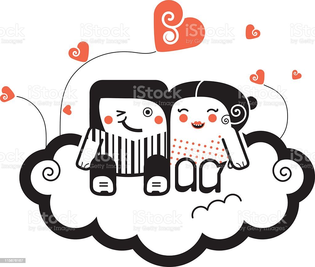 In love royalty-free stock vector art