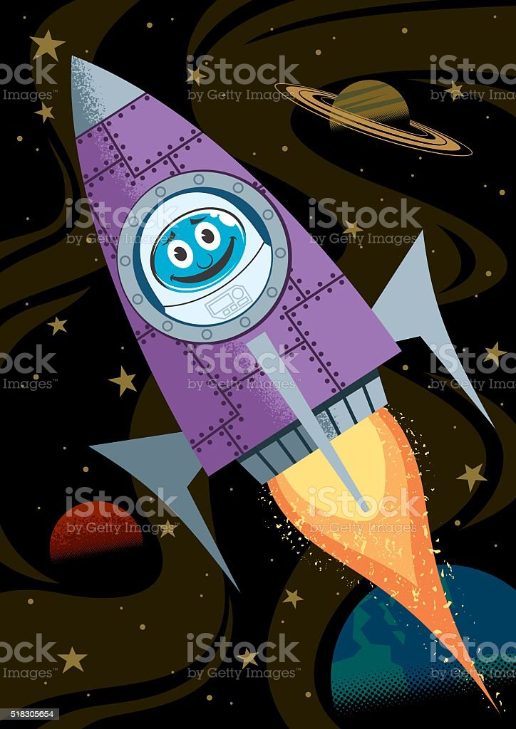 In Space vector art illustration