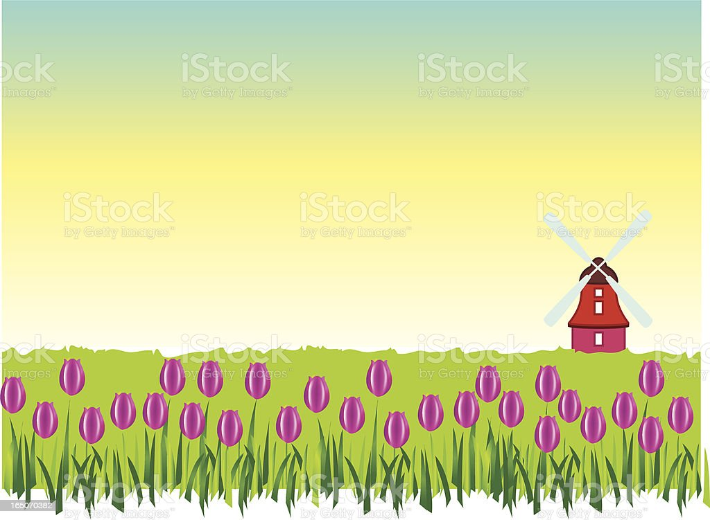 in the land of tulips royalty-free stock vector art
