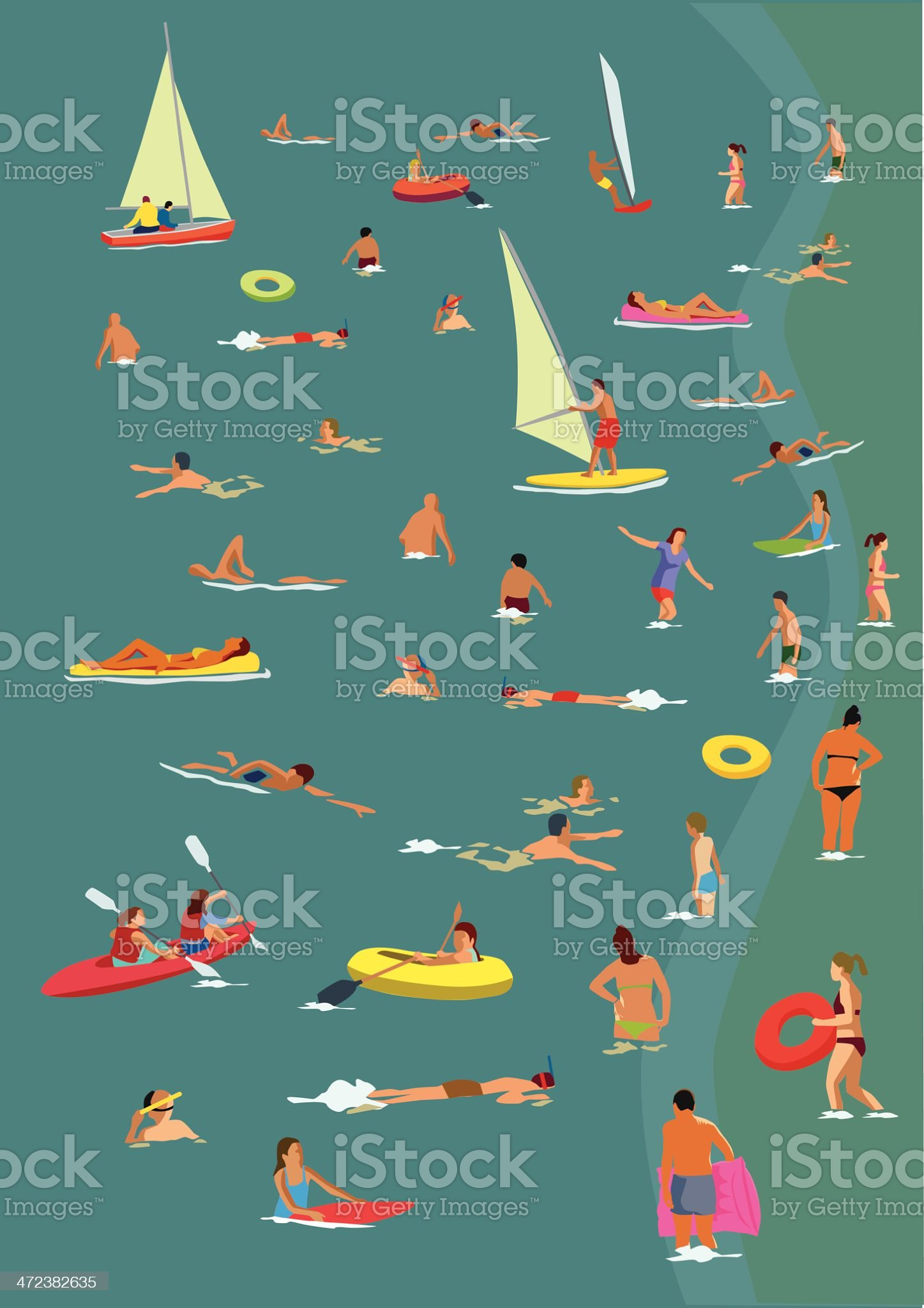 In the sea royalty-free stock vector art