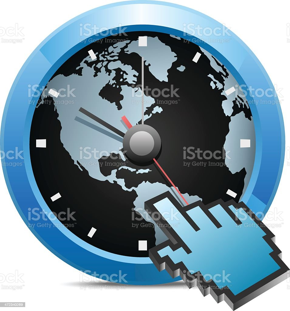 In Time royalty-free stock vector art
