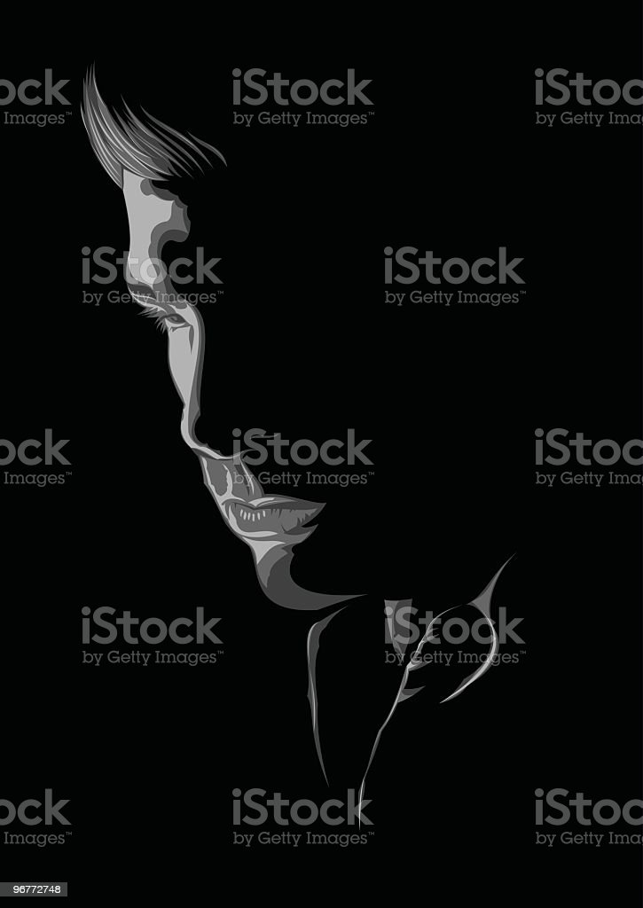 In World Of Own Thoughts royalty-free stock vector art