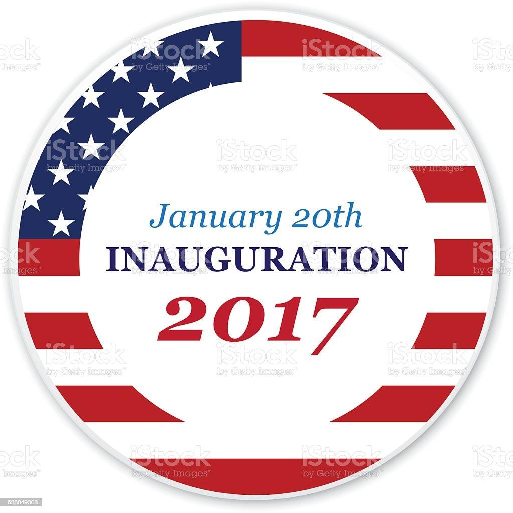 Inauguration 2017 vector art illustration