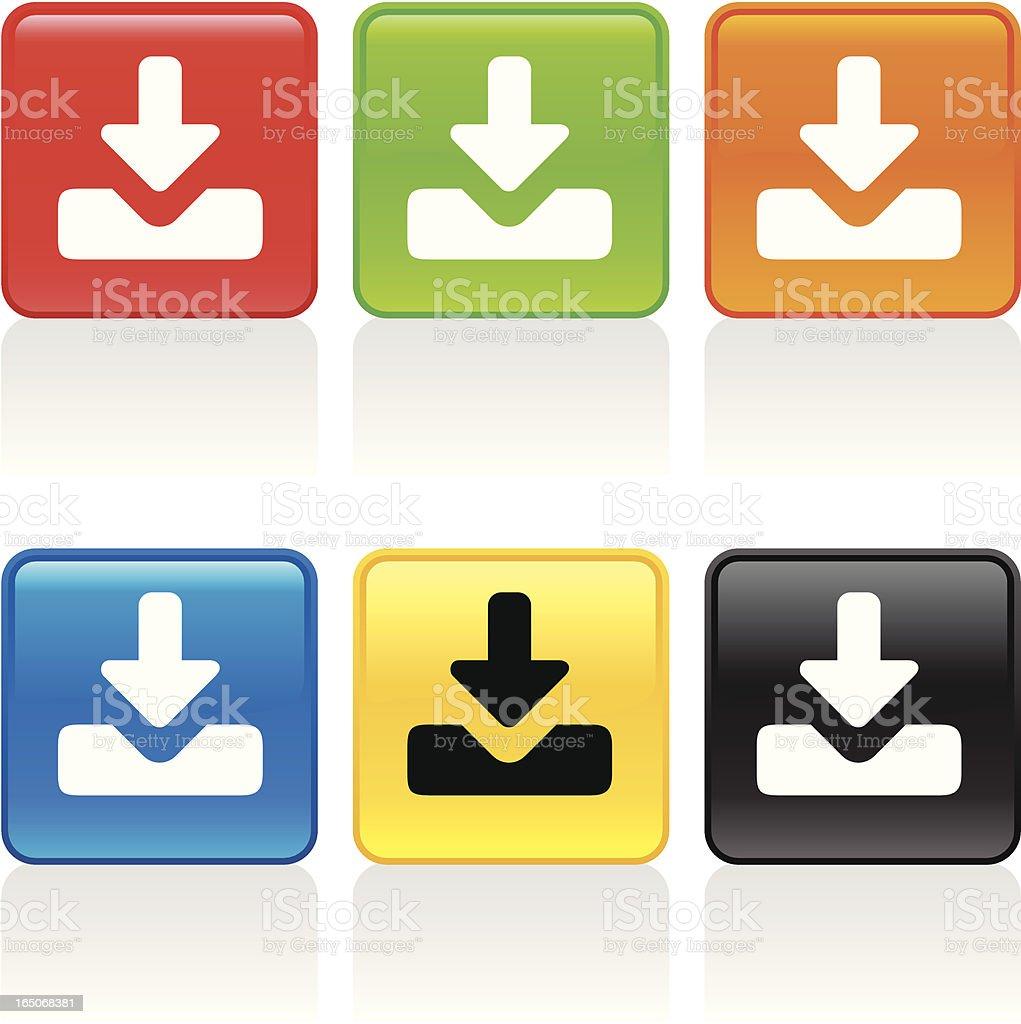 Inbox Icon vector art illustration