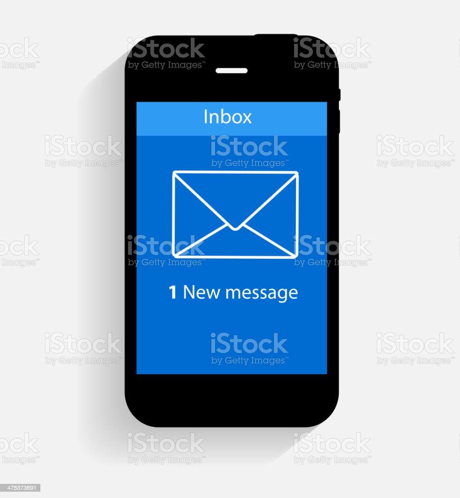Inbox Mail Flat Concept Vector Illustration vector art illustration
