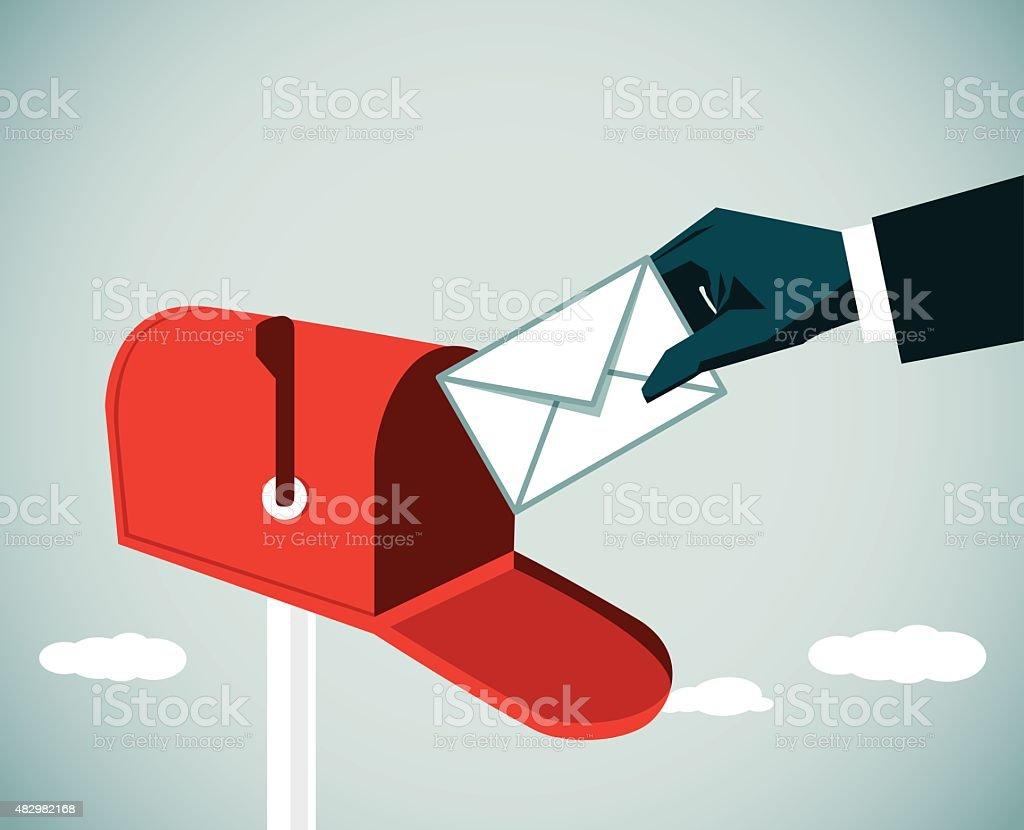 Inbox vector art illustration