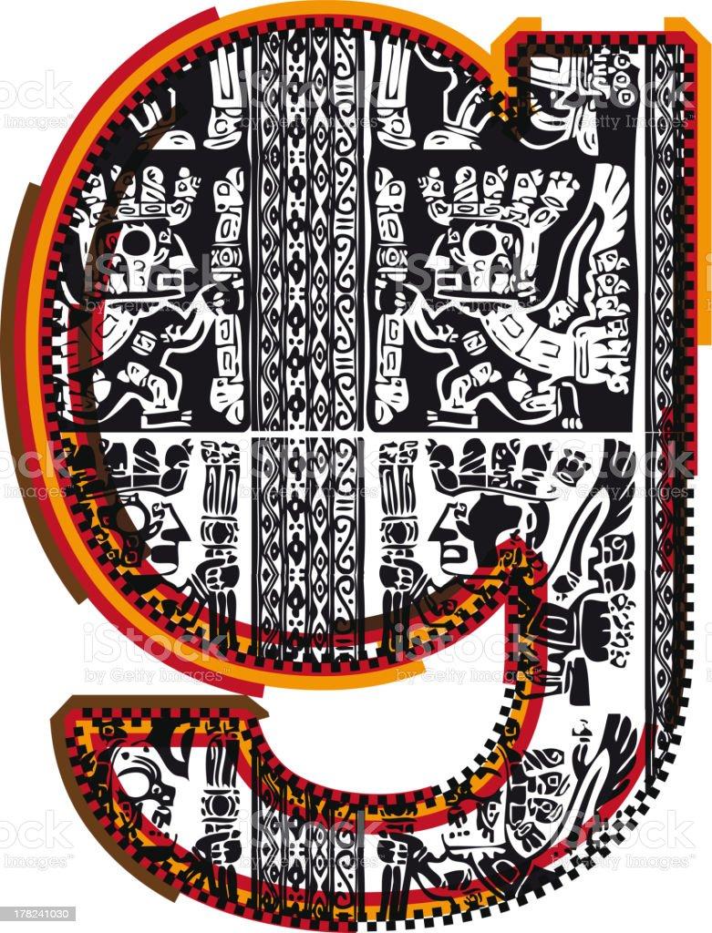 Inca Letter g royalty-free stock vector art