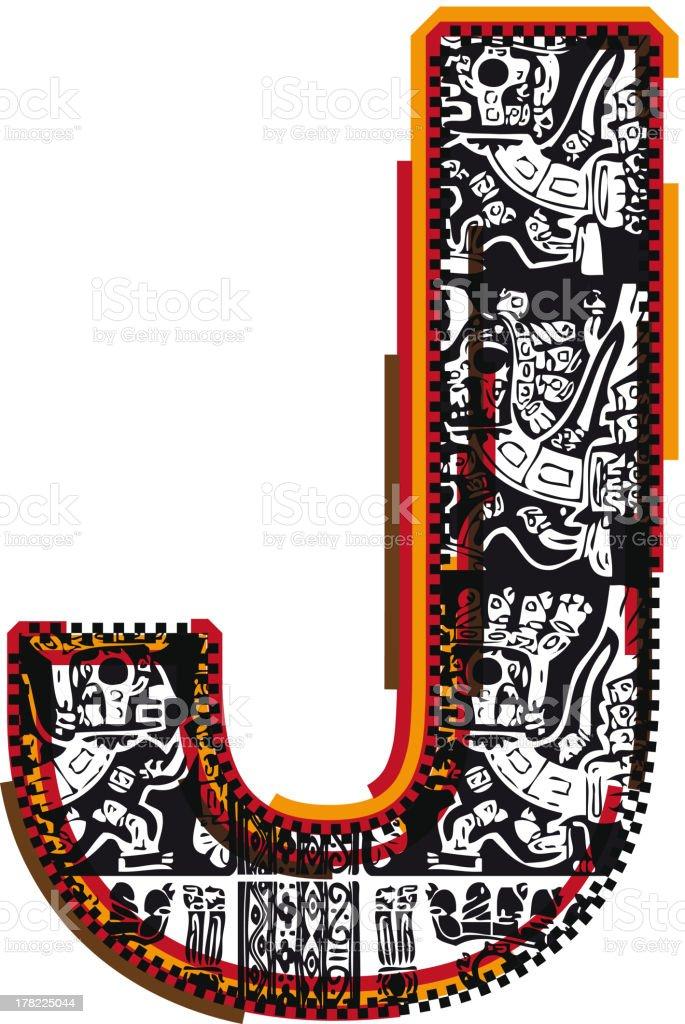 Inca Letter J royalty-free stock vector art