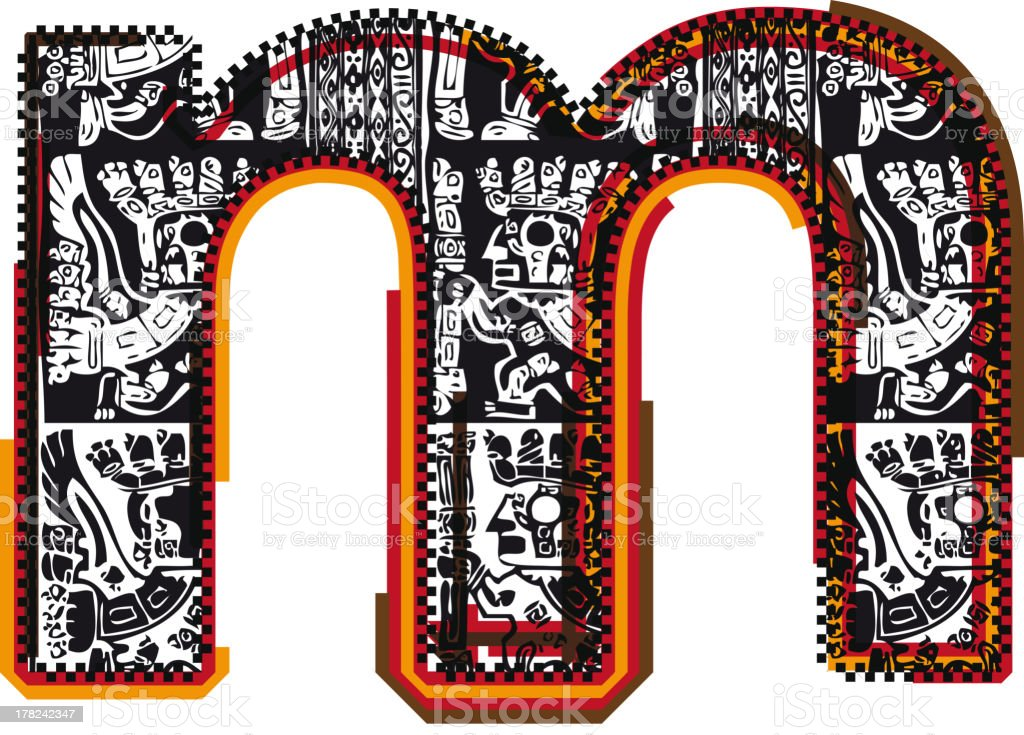 Inca Letter m royalty-free stock vector art