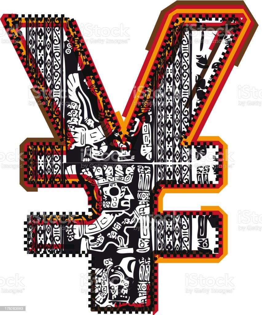 Inca Symbol vector art illustration