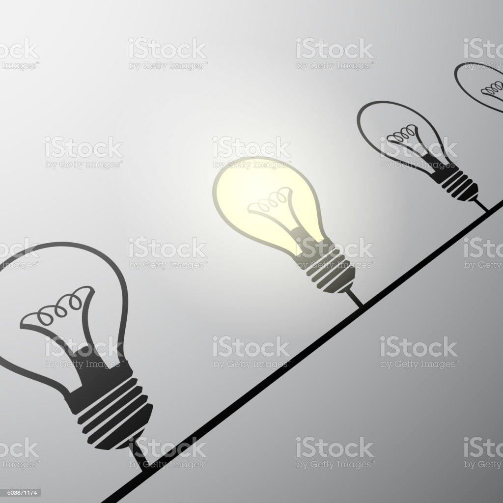 incandescent lamps. Stock illustration. vector art illustration