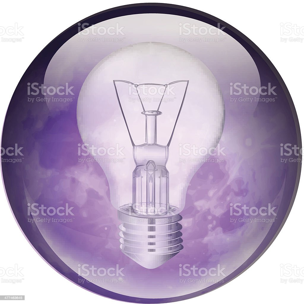 Incandescent light bulb royalty-free stock vector art