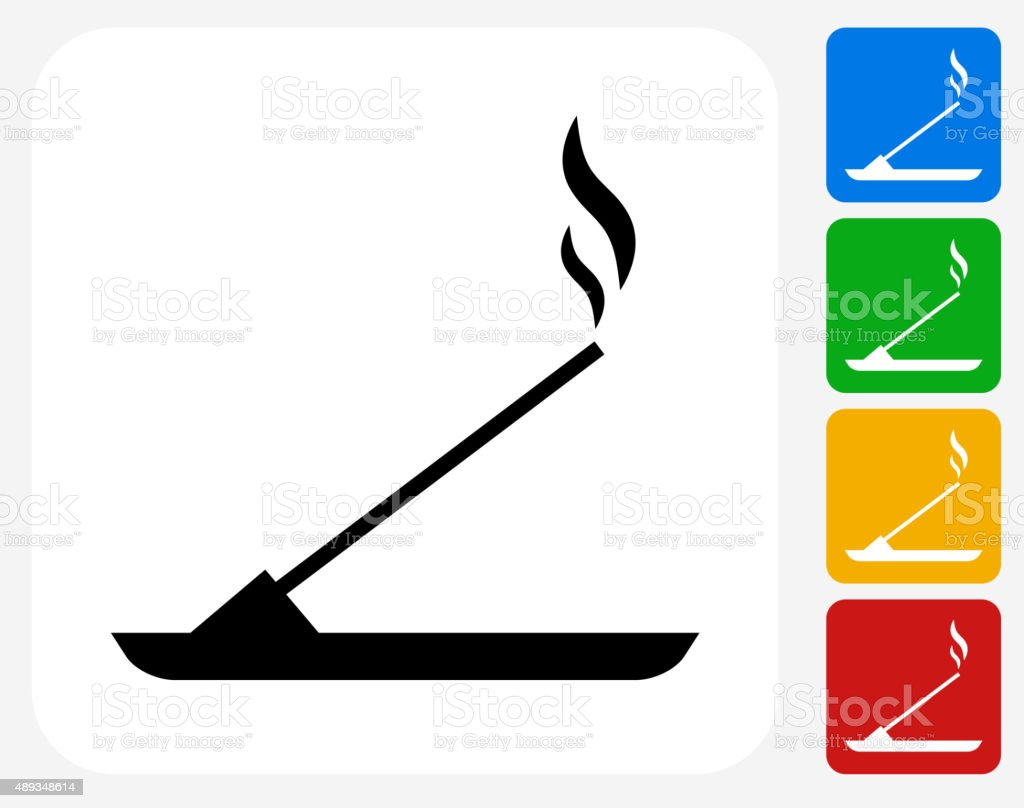 Incense Icon Flat Graphic Design vector art illustration