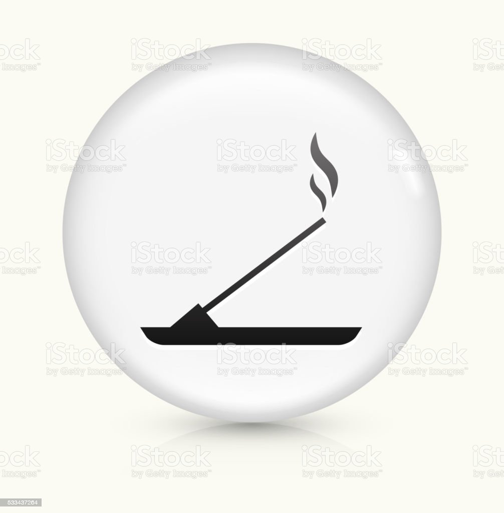Incense icon on white round vector button vector art illustration