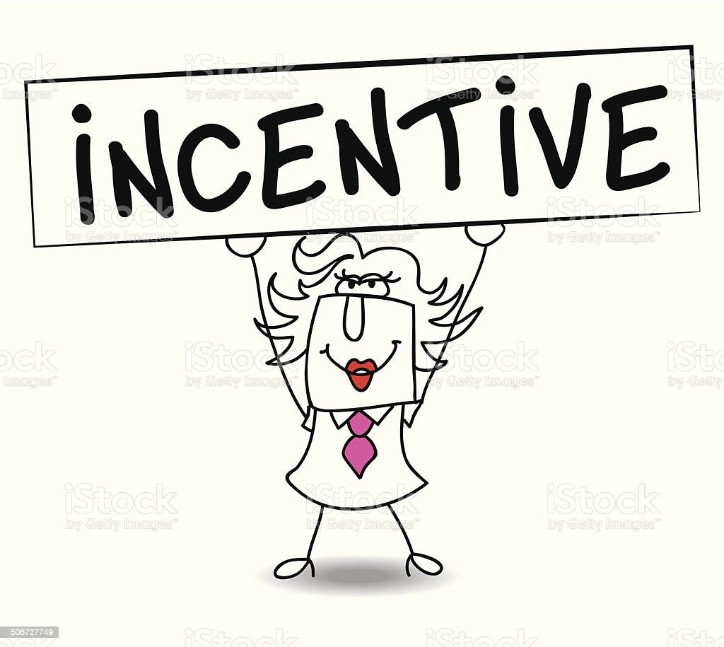 Incentive with Penelope vector art illustration