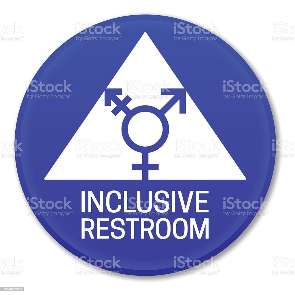 Inclusive Restroom Sign vector art illustration