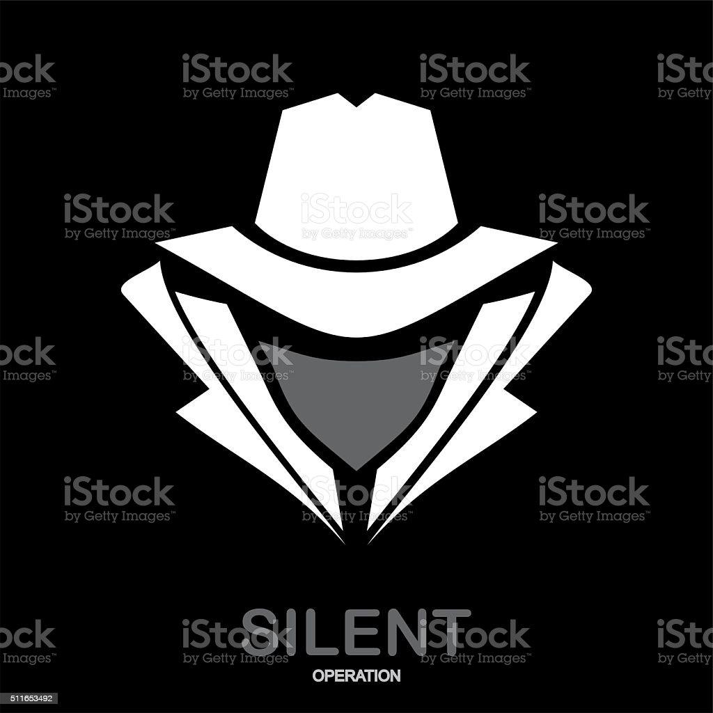 Incognito. hacker. spy agent. vector art illustration