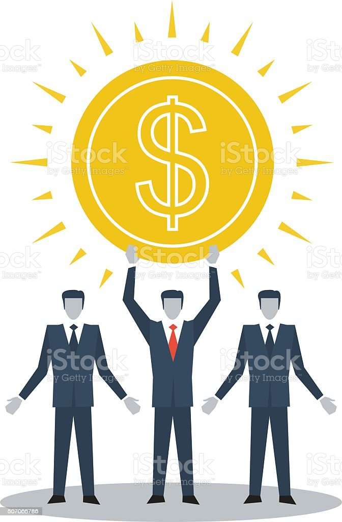 Income growth vector art illustration