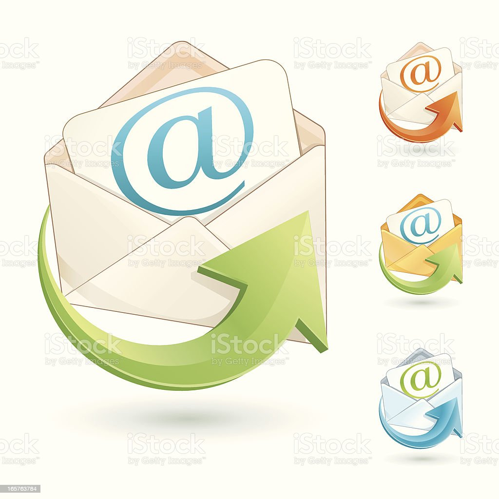 incoming mail (logo) royalty-free stock vector art
