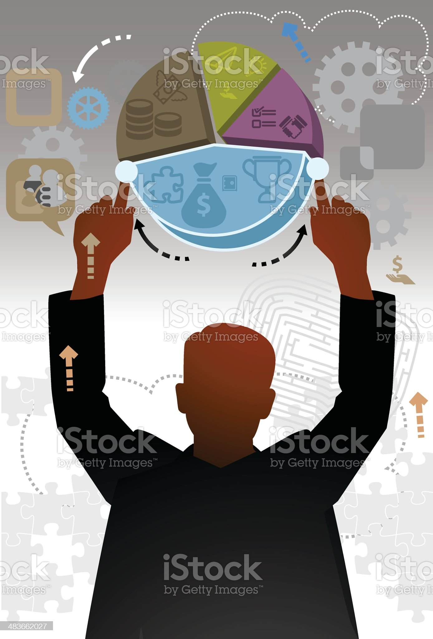 Increase Business royalty-free stock vector art