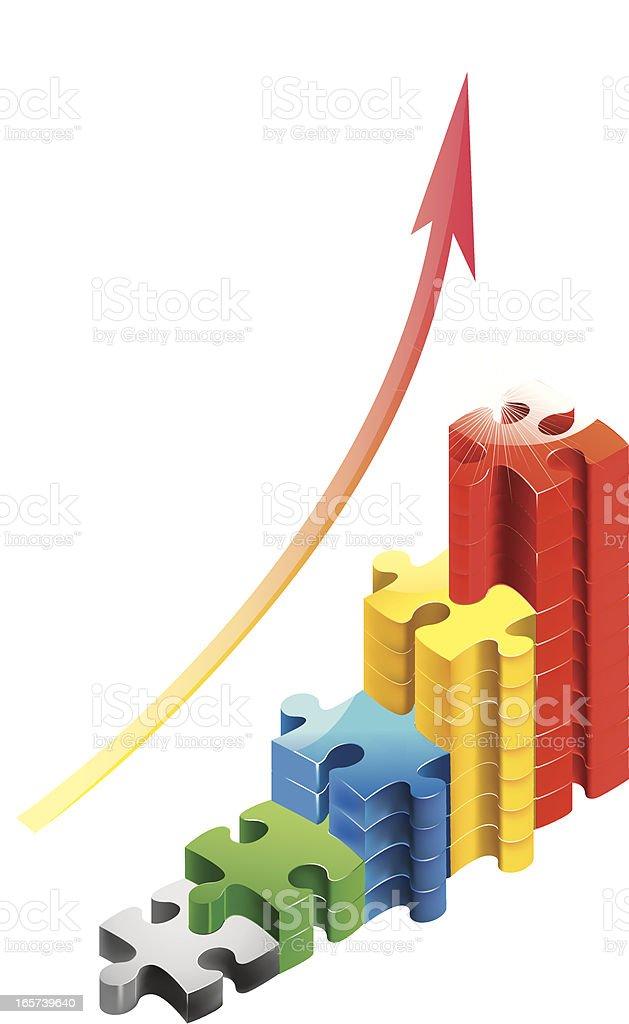 increasing profits royalty-free stock vector art