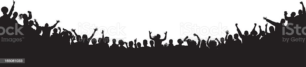 Incredibly Detailed Crowd vector art illustration