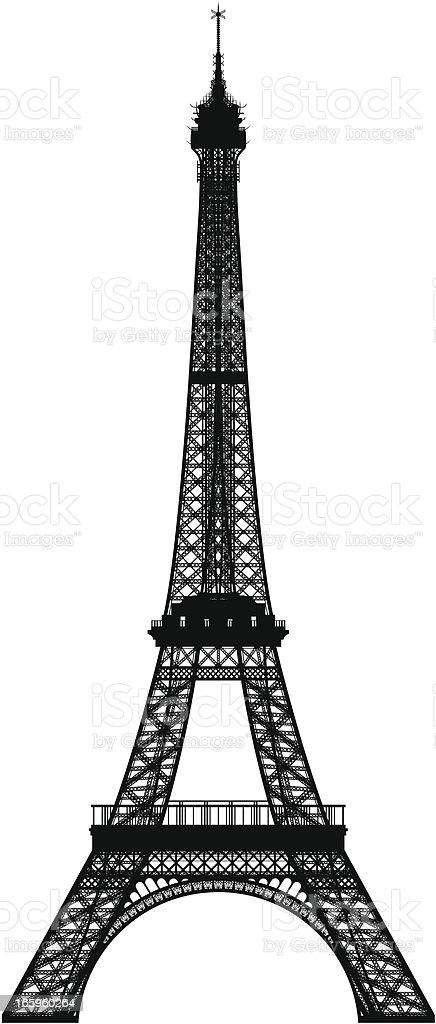 Incredibly Detailed Eiffel Tower royalty-free stock vector art
