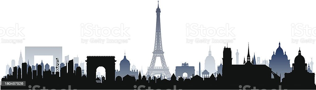 Incredibly Detailed Paris (Each Building is Moveable and Complete) vector art illustration