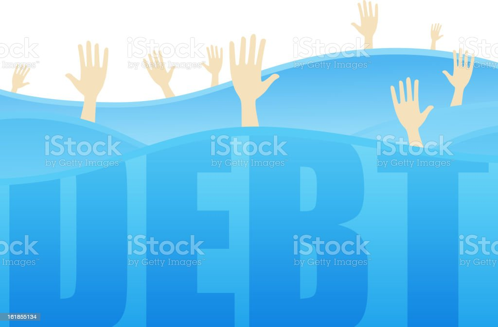 Indebted royalty-free stock vector art