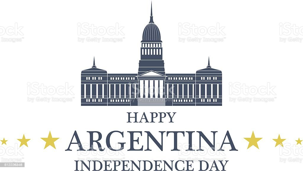 Independence Day. Argentina vector art illustration