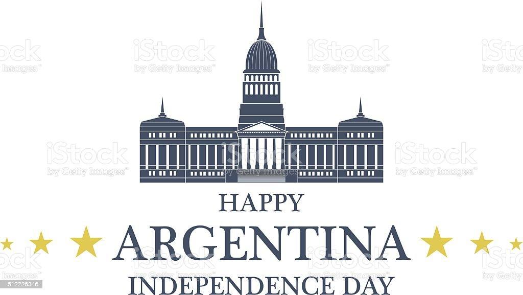 Independence Day. Argentina vector art illustration