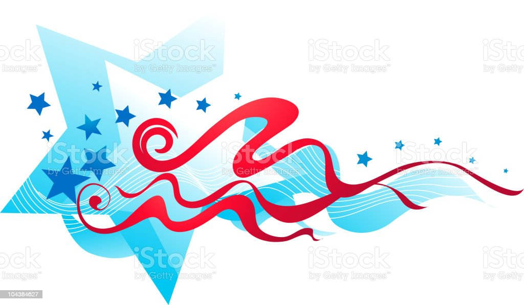 Independence Day background vector art illustration